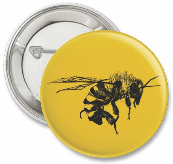 A limited edition 38 mm save the bees badge.