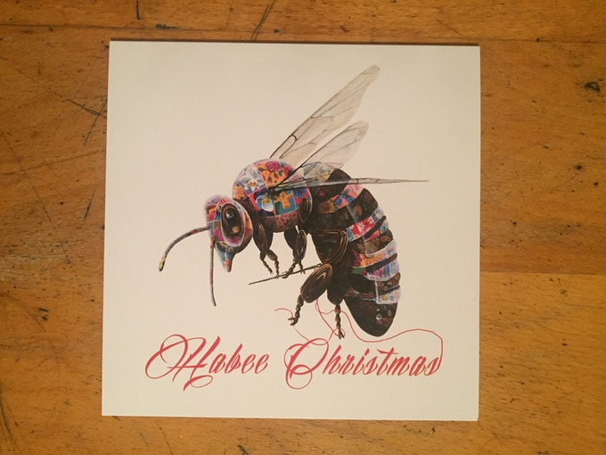 A personalised christmas card sent by and written to you from louis masai