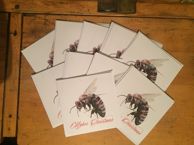A complete pack of ten louis masai bee puppet cards and envelopes