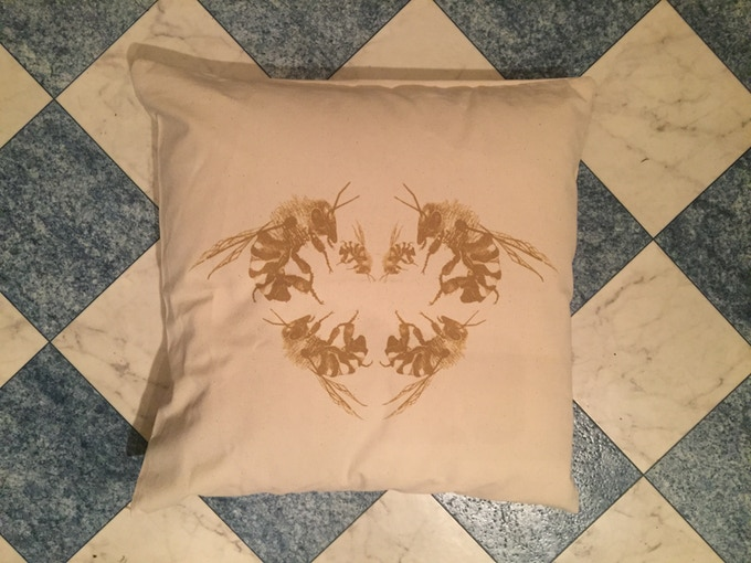 The limited edition save the bees cushion and cover - front