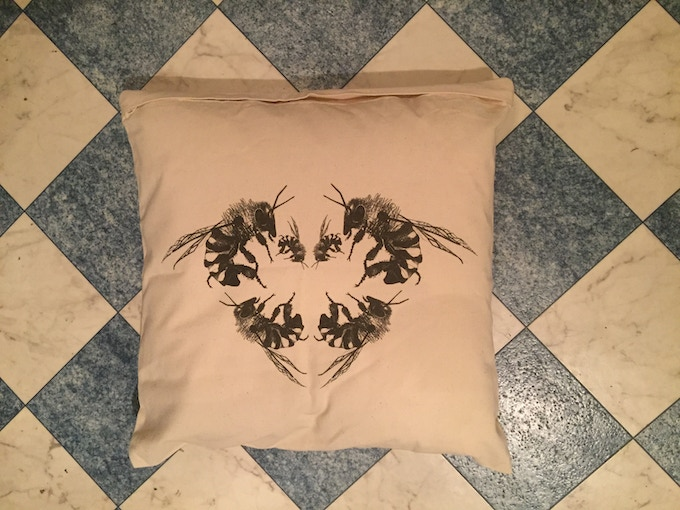 The limited edition, save the bees cushion and cover - back