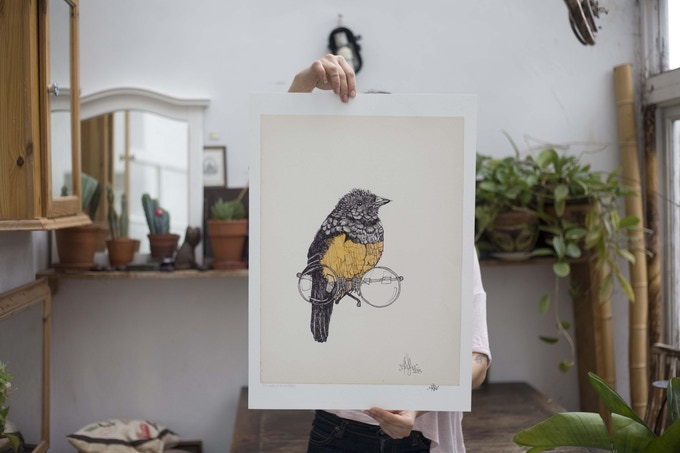 A limited edition, signed giclee - look at all the people from the last of my kind series.