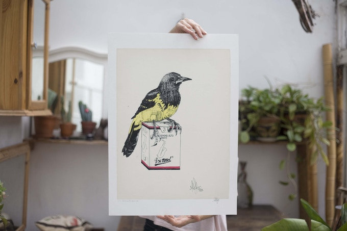 A limited edition signed giclee print - walk on the wild side from the last of my kind series.