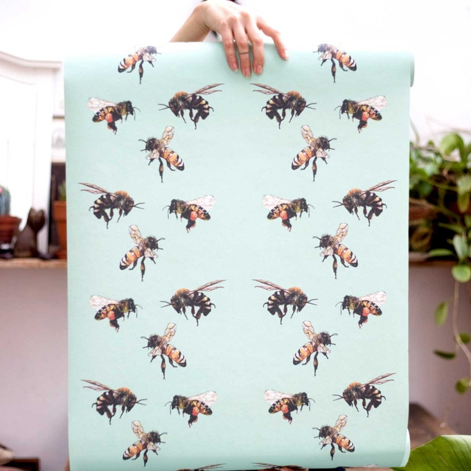 The save the bees wall paper - 1st print edition run