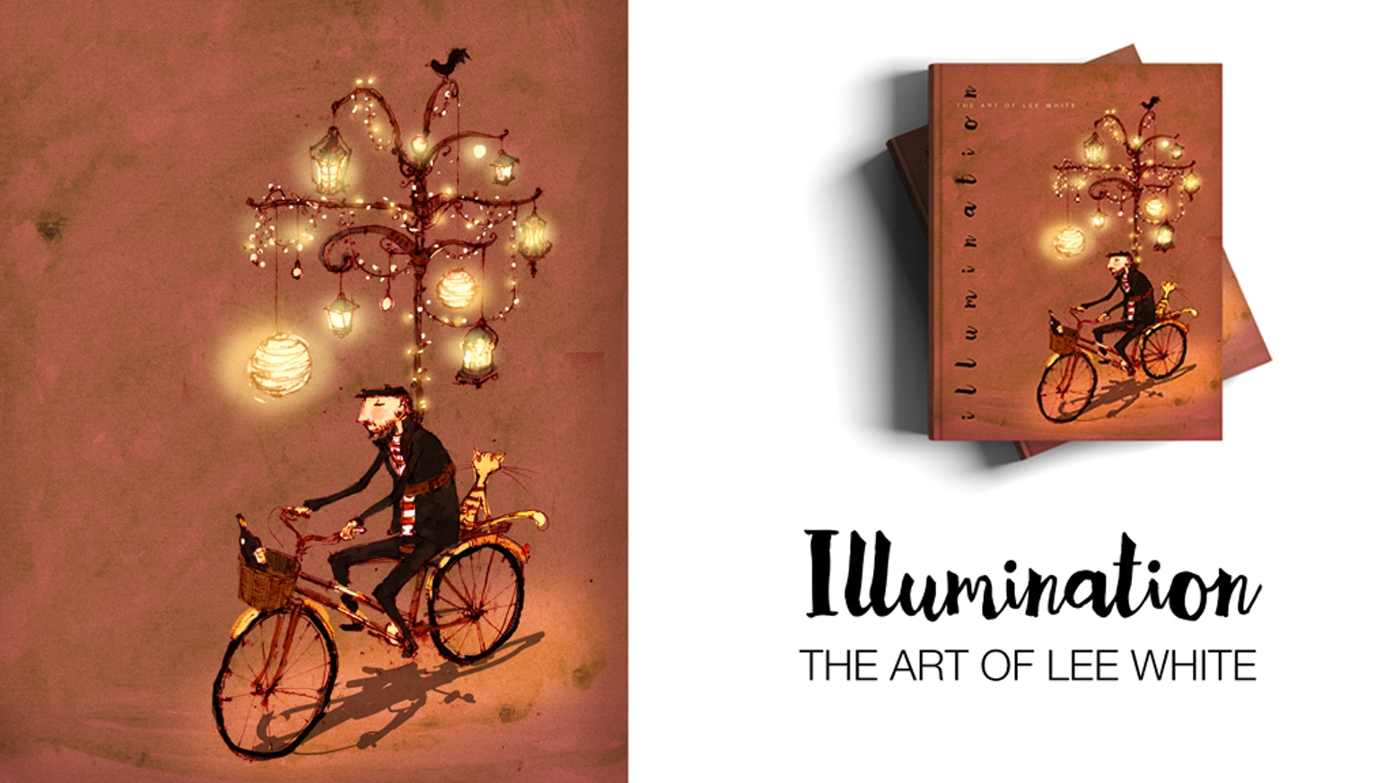 This hardcover coffee table book showcases all the whimsical illustrations from professional book illustrator Lee White.