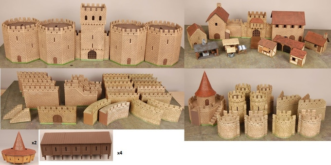 All pieces that come with the Grand Castle Pledge Level!