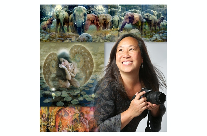 My artist publicity shot and some of my artwork. Photo by Mark Gebhardt.