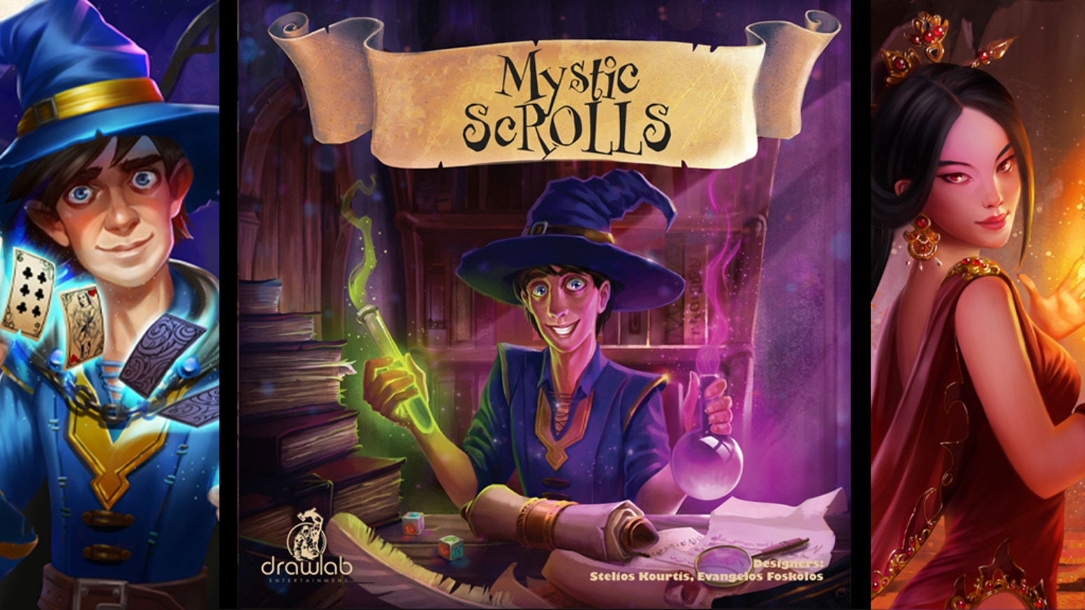 Become a wizard and gain the knowledge of the ancient scrolls in this exciting and fast real-time 20-minute dice game.
