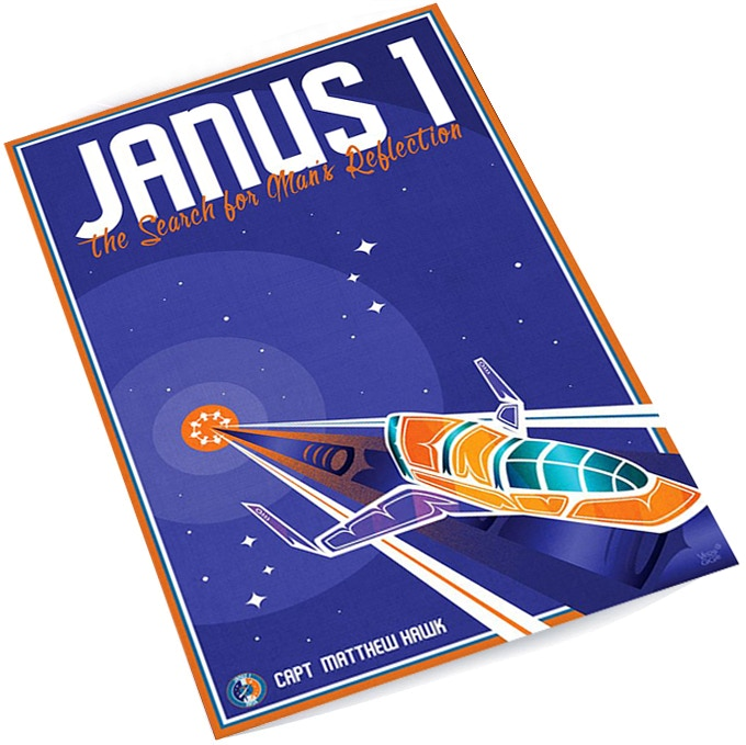 "Signed and numbered 6""x10"" Janus Mission art print by award-winning artist Jeffrey Veregge!"