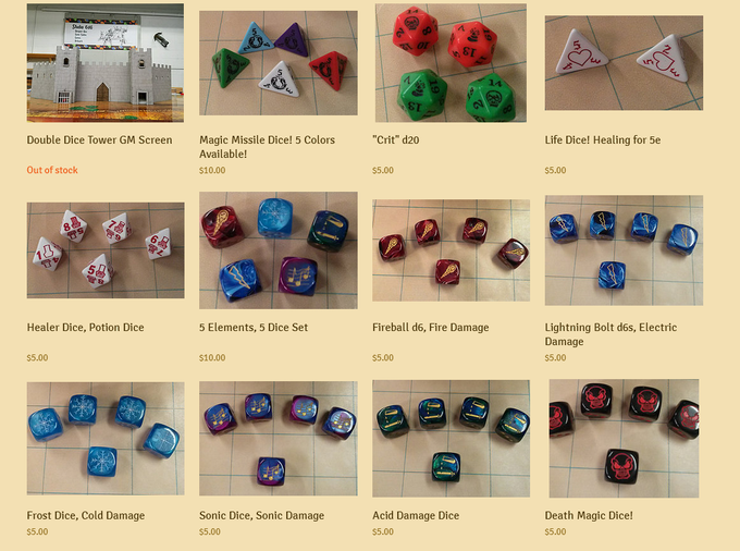 Want to get your hands on some dice from our previous projects? Click here.