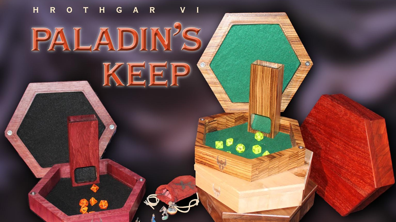 The Paladin's Keep is a heavy-duty travel dice tower and tray system great for any tabletop game!