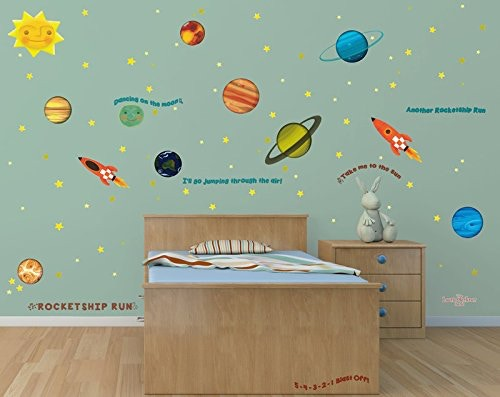 Laurie Berkner Rocketship Wall Decals