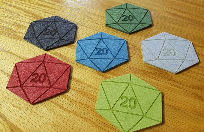 By popular demand: The 6 Coaster d20 Set