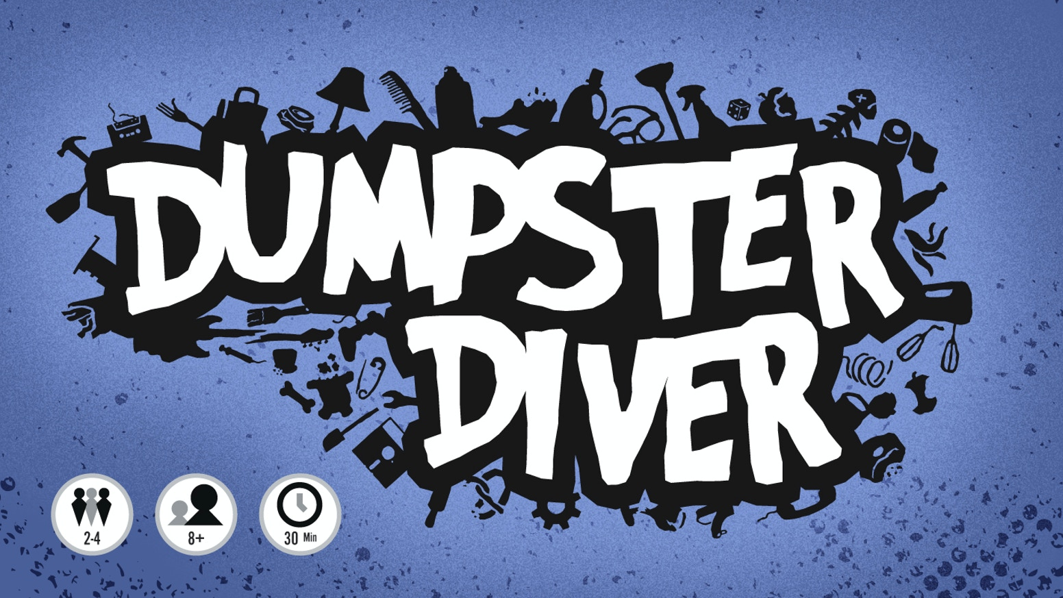 Dumpster Diver is a fast and easy card game about turning trash into glorious treasure.