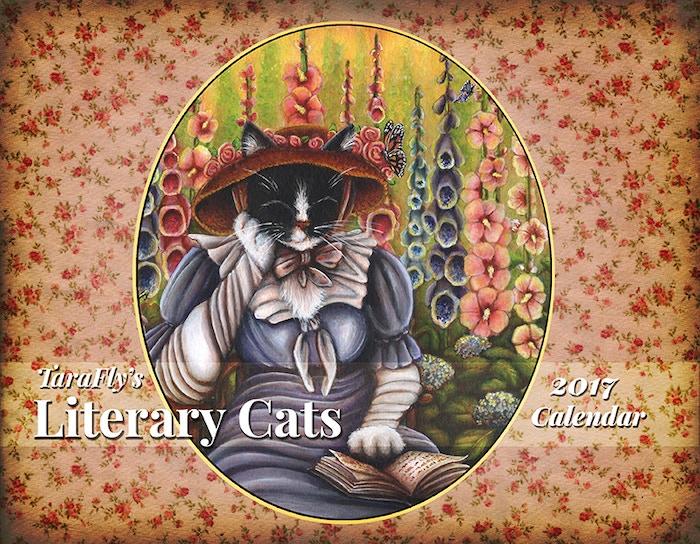 2017 Literary Cats Art Calendar By Tara Fly Kickstarter