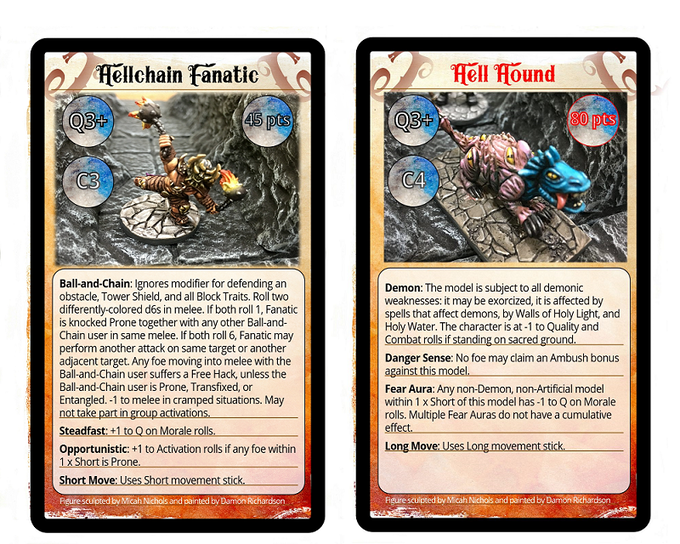 Sample of Character Cards