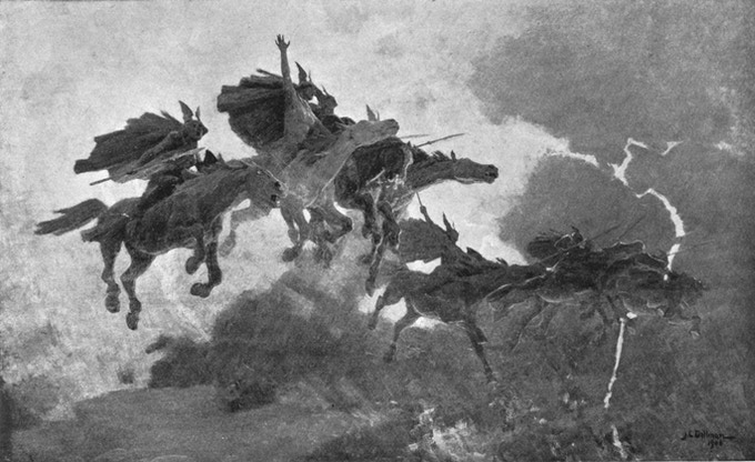 The Ride of the Valkyries (1909) by John Charles Dollman