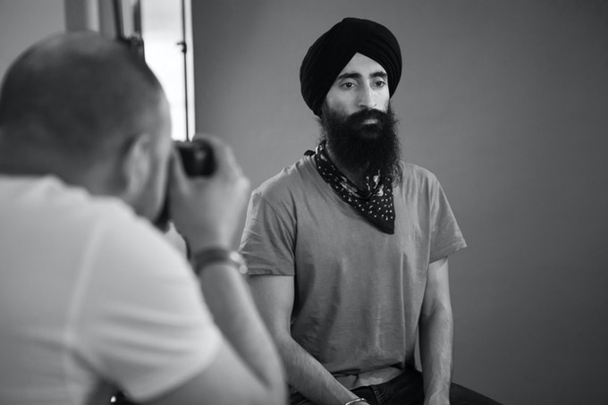 Being the scenes, photographing Waris Ahluwalia