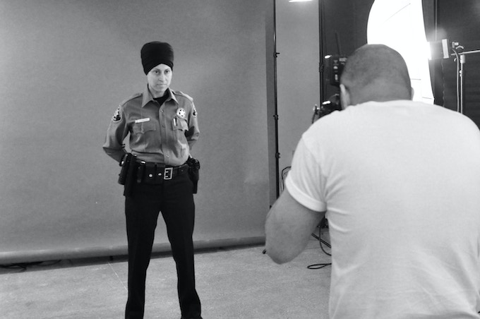 Behind the scenes photographing Deputy Sheriff Khalsa