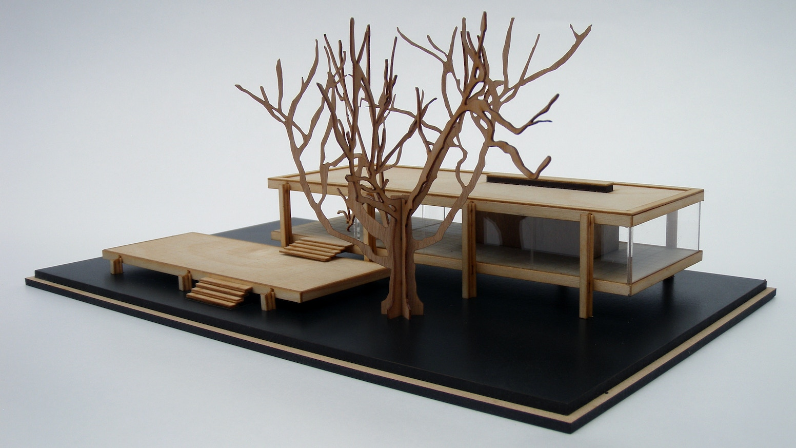 mies van de rohe s farnsworth house architectural model kit by