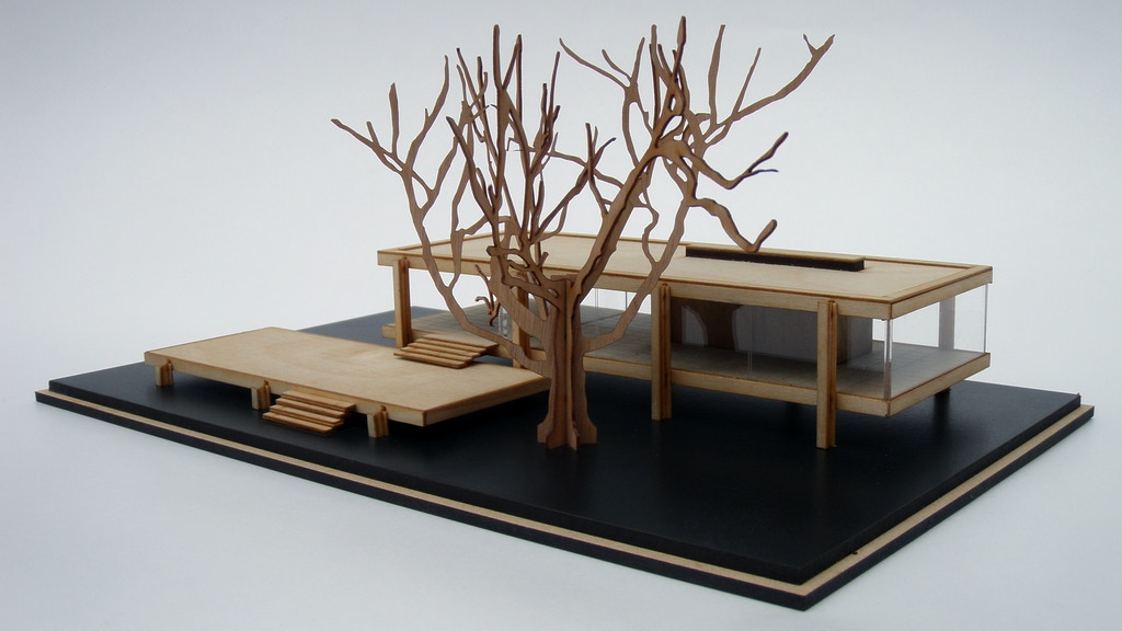 Mies van de Rohe's Farnsworth House. Architectural Model Kit project video thumbnail