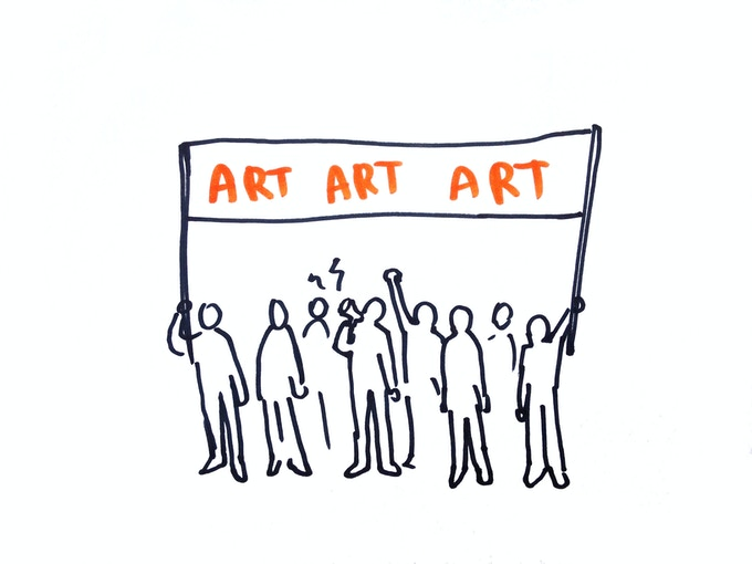 Working together, for independent art.