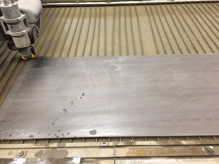 D2 Steel Ready to Be Cut by Water Jet