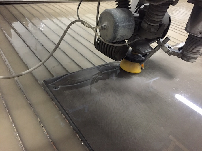THE First MSK-1 Being Water Jet Cut!