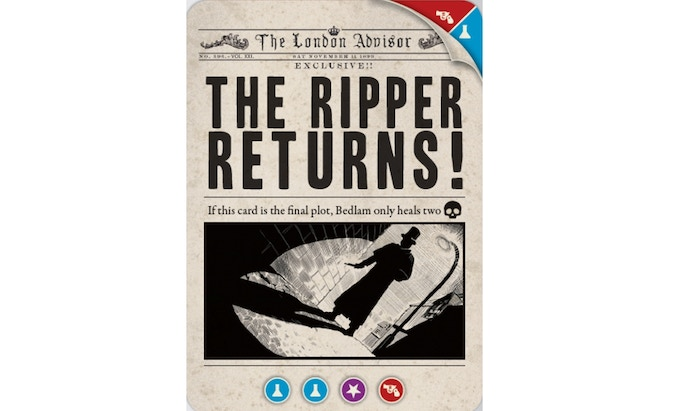 The plot card from Casefile: The Ripper Returns!