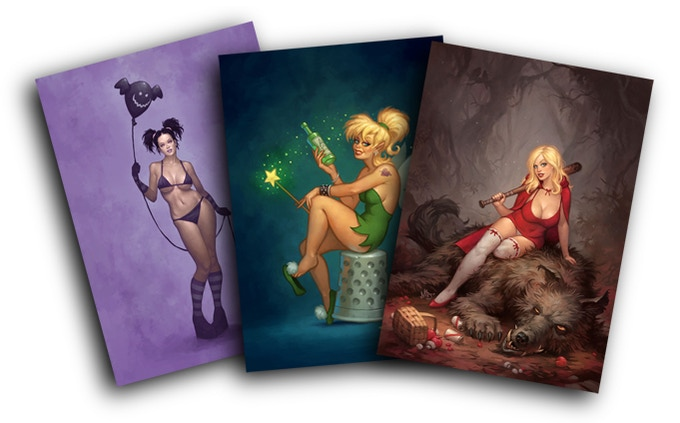 Some examples of Matt's other Pin Up work