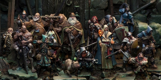 Some examples of Tre's work, 'The Nightwatch' painted by Roman Lappat of Massive Voodoo