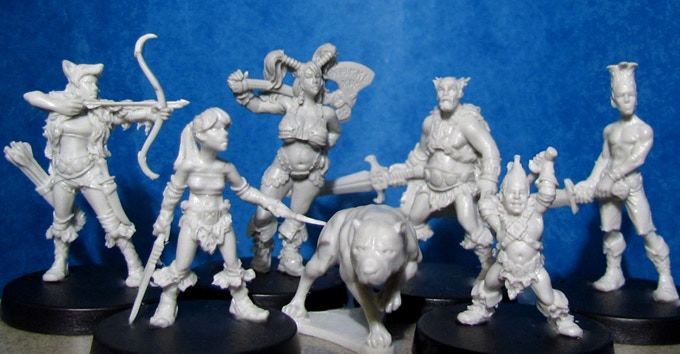 Some Examples of Kev's work (A fantasy representation of his own family)