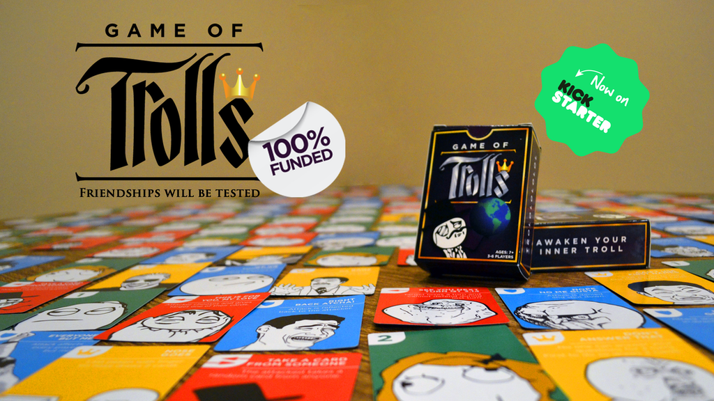 Game of Trolls - A Card Game for Jerks & Their Jerk Friends project video thumbnail