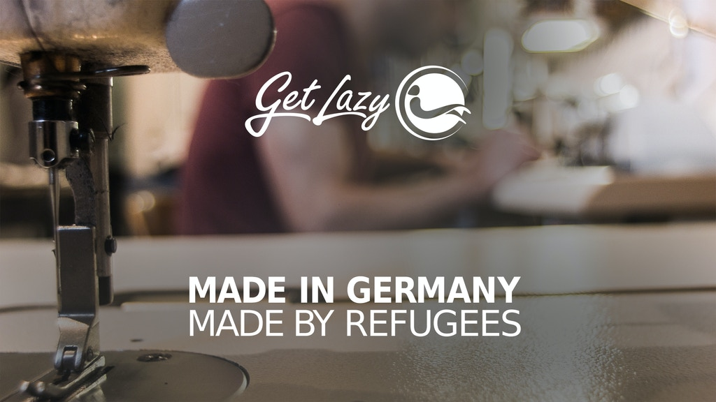 Der GET LAZY - HOODIE Made in Germany - Made by Refugees project video thumbnail