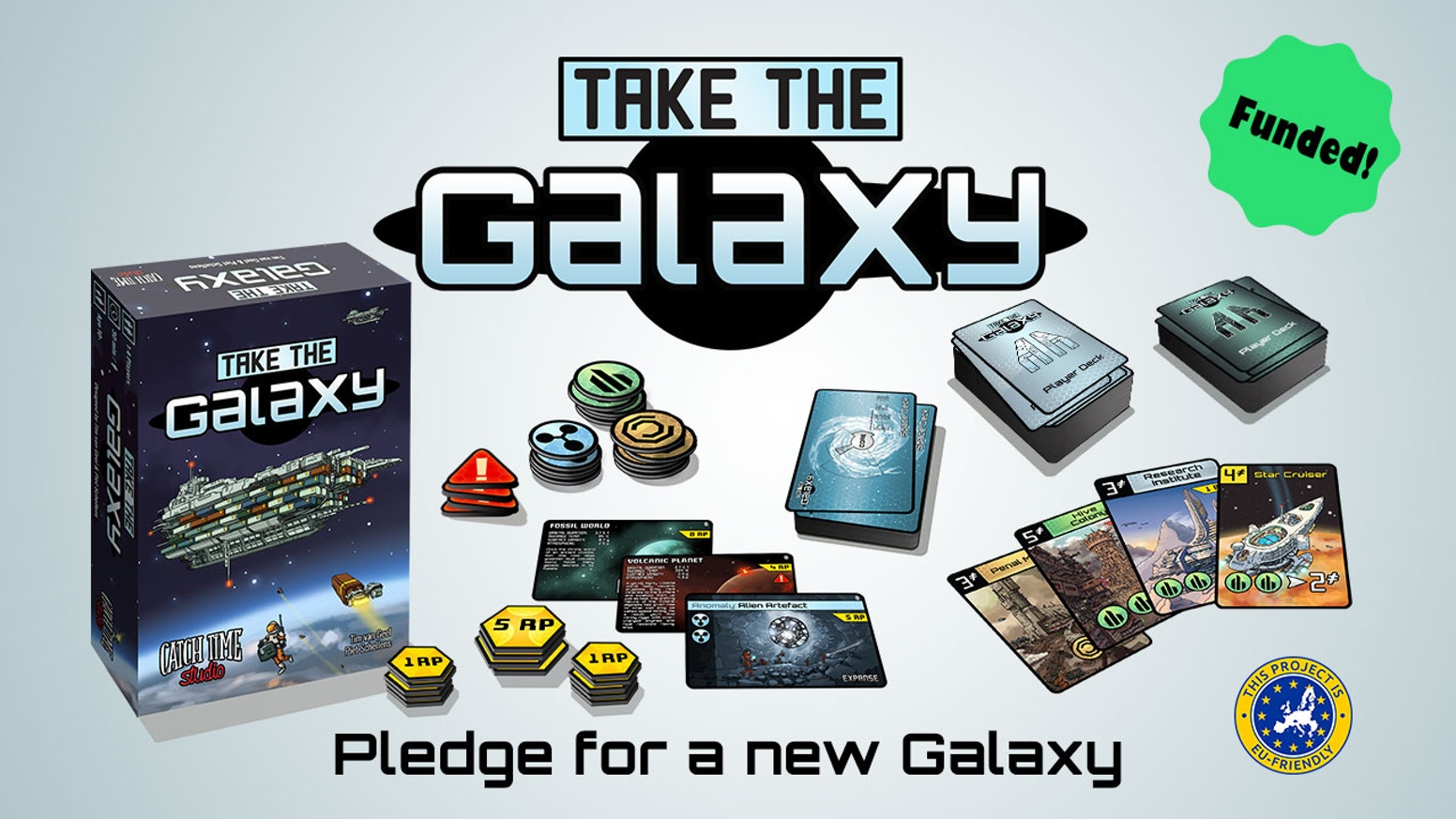 Take The Galaxy is an empire building card game set in the bright future of space exploration.