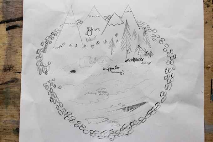 Map from a game of Eden