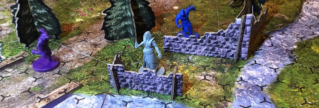 Incantris Wizards with Battlefield Features from the Battle Pack