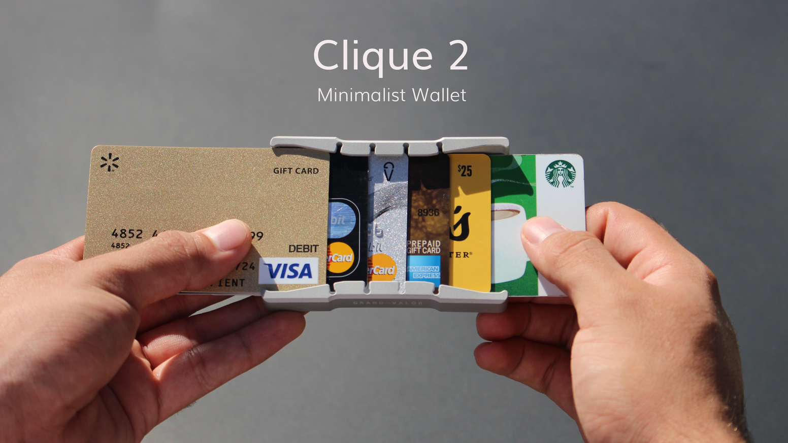 The Clique 2 stores your cards unlike any other wallet. Beautifully engineered with superior functionality.