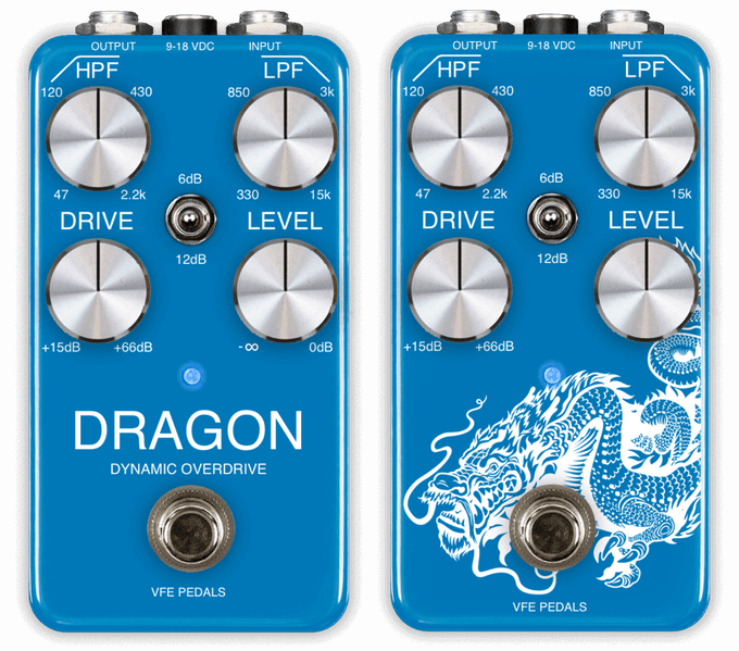 The Dragon dynamic overdrive is available in two different graphic styles.