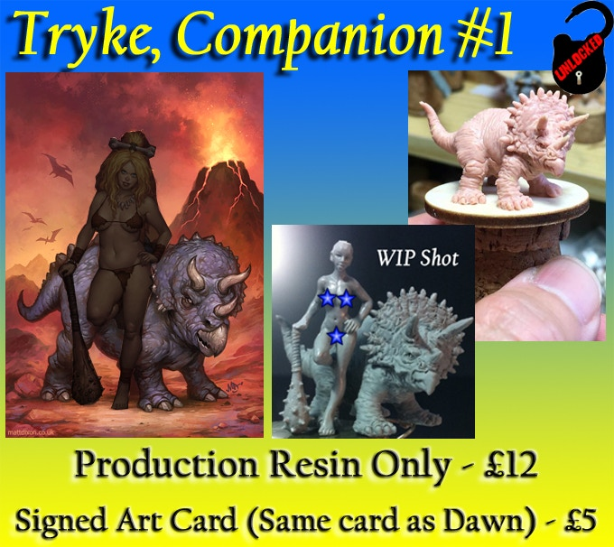 Tryke is Dawn's faithful Baby Triceratops companion