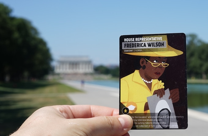 Representative Wilson spending a sunny day at the National Mall