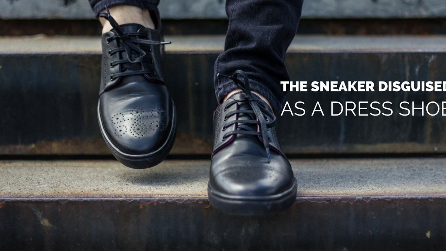 Mix business with pleasure in a pair of sneakers that look like dress shoes.
