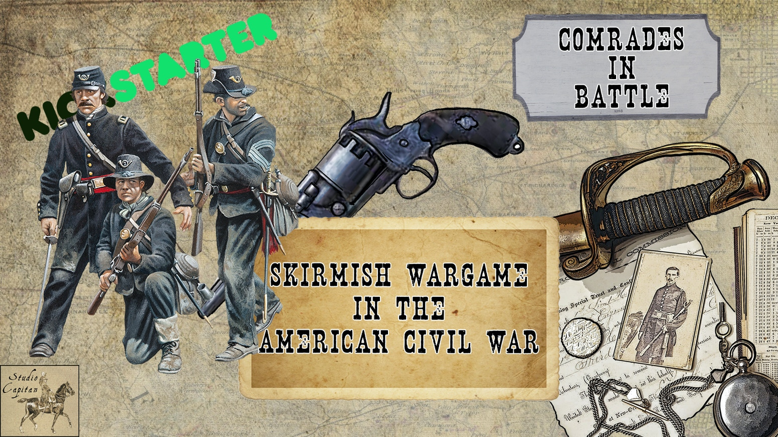 Comrades in Battle ACW Skirmish 28mm Rules & Miniatures by