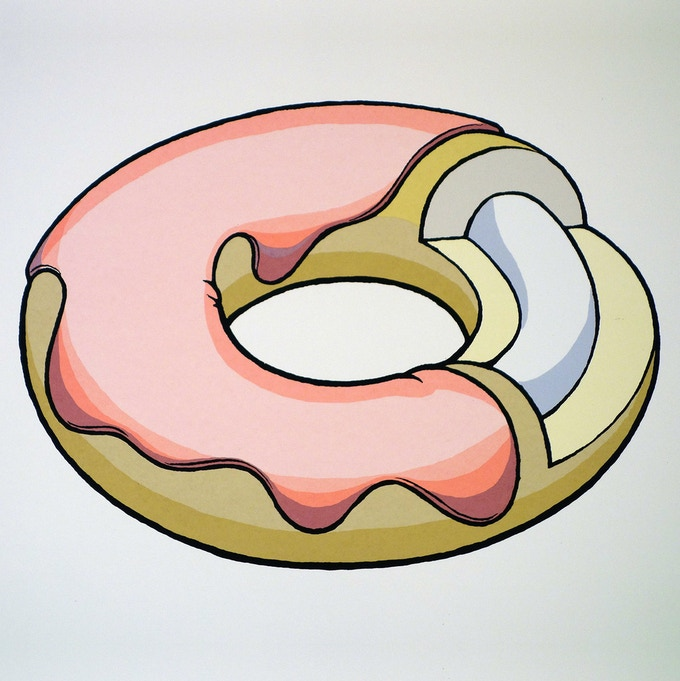 5-color donut diagram fine art edition (of 50), silkscreened on 100 lb. Mohawk Superfine paper