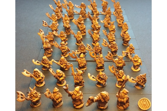 50 Different Dwarian Double Handed Axemen!