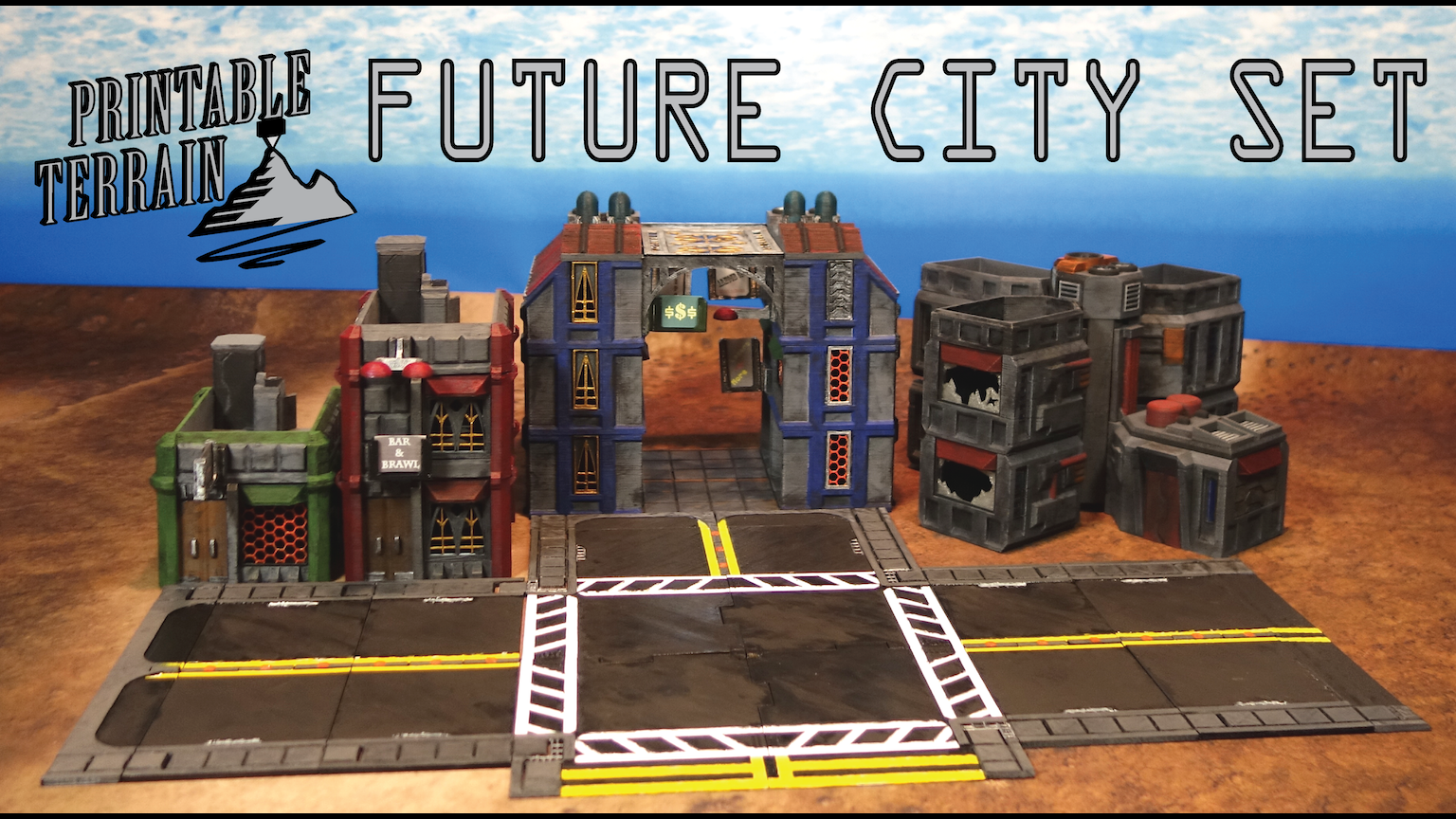 Printable Terrain Future City For Wargames And Rpg S By