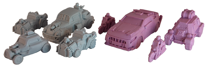 1 piece and colour-coded highly detailed polyurethane resin miniatures. These are actual models you will get in the game