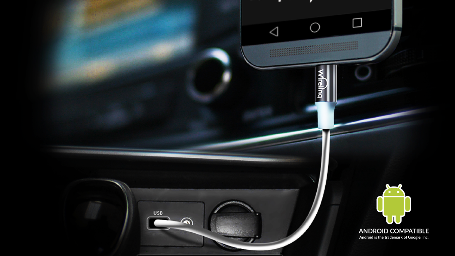 Connects your Android phone to the car stereo for music, controls and text display.  For more information, go to gromaudio.com/wirelinq or click on link below.