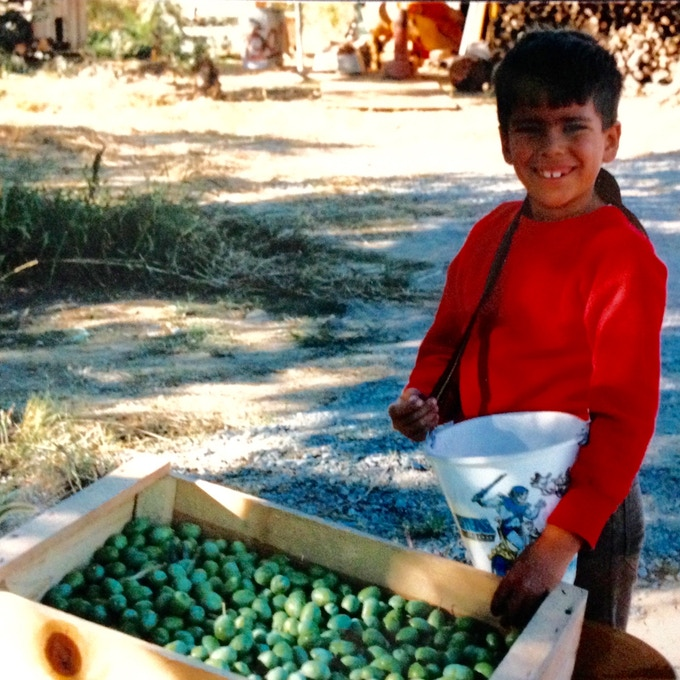 Me, helping with harvest when I was 6 yrs old