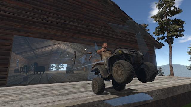 Earl on a drunken ATV ride through the neighbor's house